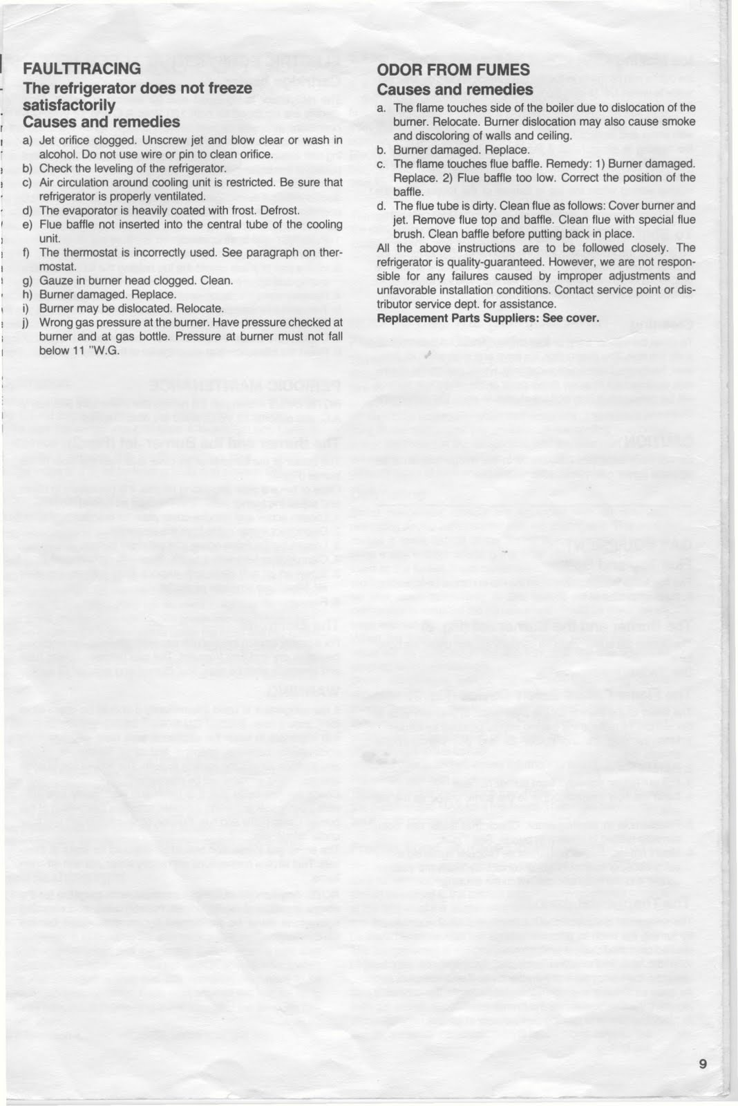 1983 Fleetwood Pace Arrow Owners Manuals: Dometic